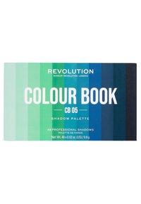 Make up Revolution - COLOUR BOOK EYESHADOW PALETTE - Palette fard à paupière - greens & blues - 1