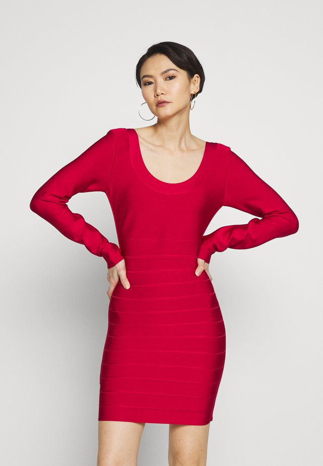 ICON SCOUP NECK LONGLEEVE - Vestido de tubo - rio red