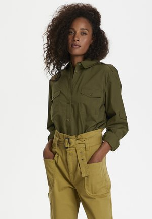 FRIDAY - Button-down blouse - capers