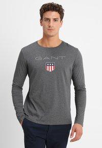 GANT - SHIELD - Long sleeved top - dark grey melange - 0
