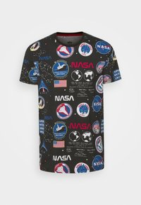 Alpha Industries - NASA - T-shirt con stampa - black - 4
