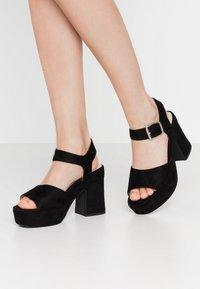 mtng - LEIRA - High heeled sandals - black - 0