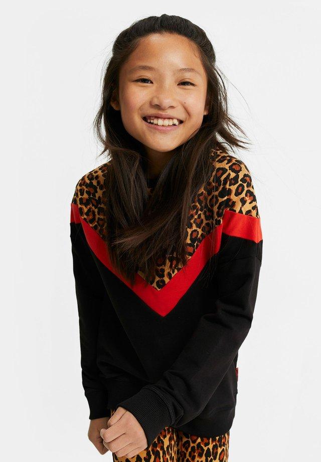 MET LUIPAARDDESSIN - Sweater - black
