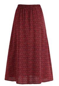 Noella - PAJA - A-line skirt - wine old rose flower - 4