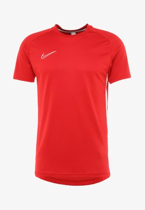 DRY ACADEMY - T-shirt z nadrukiem - university red/white