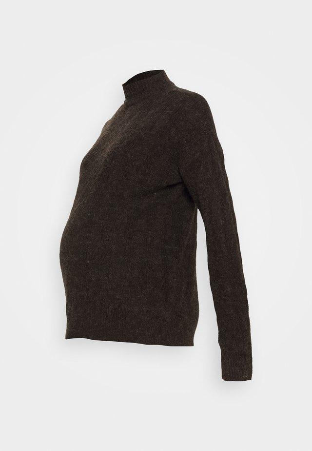 PCMBECKY HIGH NECK CABLE - Pullover - mole melange