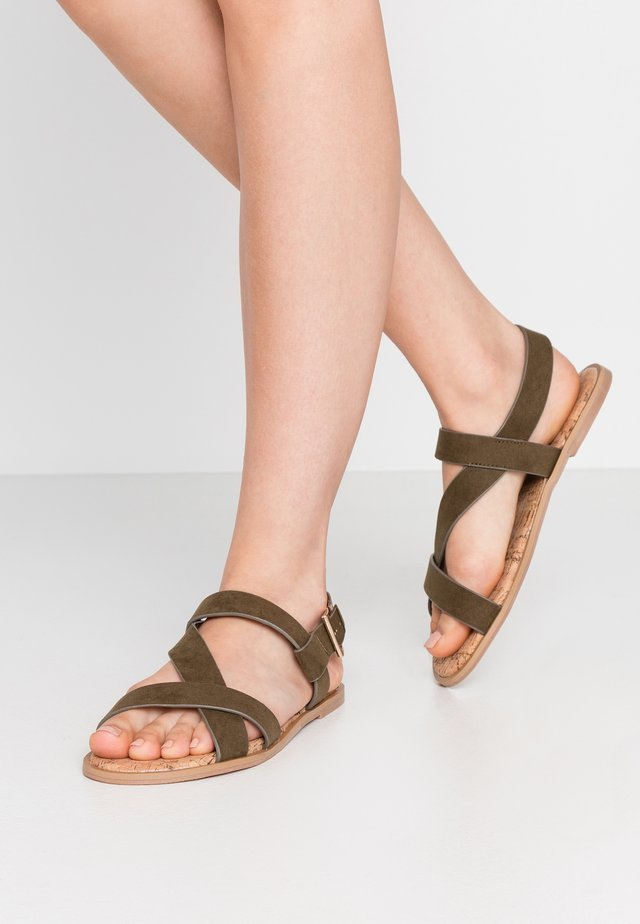 WIDE FIT FINO COMFORT ASYMETRIC - Sandals - khaki
