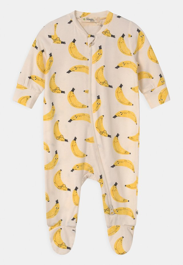 RELAX PRINTED ZIP FRONT UNISEX - Sleep suit - white/yellow