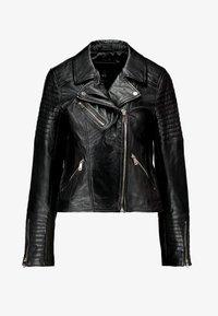 CATO JACKET - Kožená bunda - black