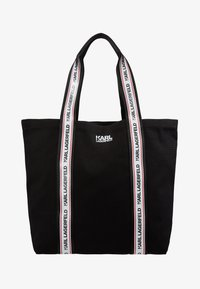 KARL LAGERFELD - KARL WEBBING SHOPPER - Tote bag - black - 5