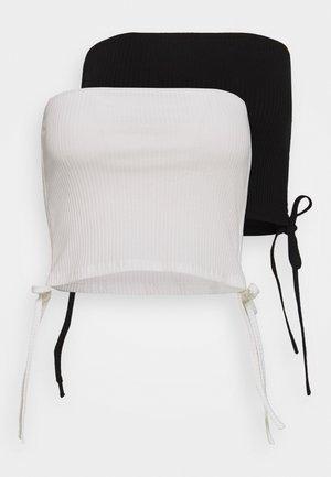 PALOMA STRAPLESS CROP 2 PACK  - Linne - black/white