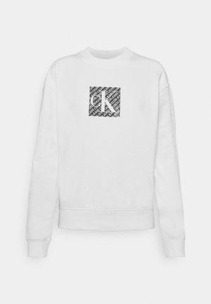 HOLOGRAM LOGO CREW NECK - Sweatshirt - bright white