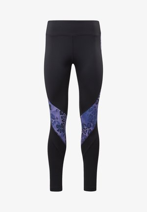 MODERN SAFARI PANEL LEGGINGS - Tights - black/hyper purple