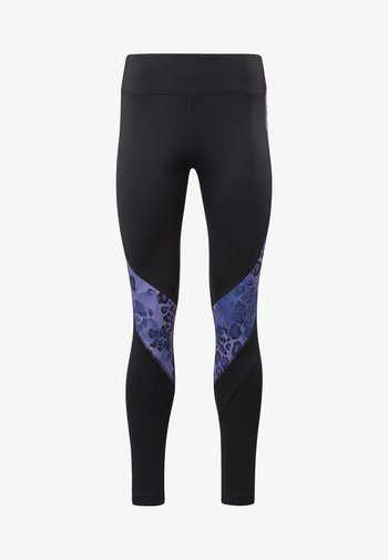 MODERN SAFARI PANEL LEGGINGS - Collant - black/hyper purple