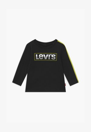 LOGO TAPED LONG SLEEVE - Long sleeved top - black