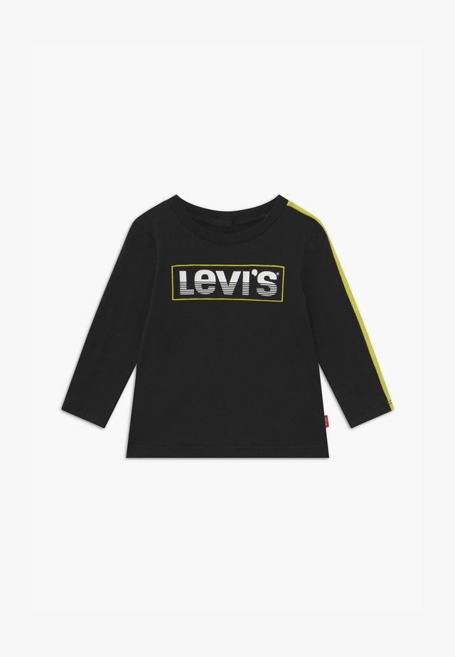 LOGO TAPED LONG SLEEVE - T-shirt à manches longues - black