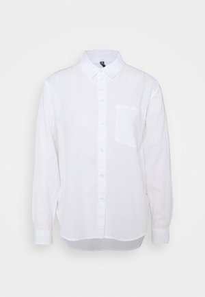 PCPARLEE SHIRT - Button-down blouse - bright white