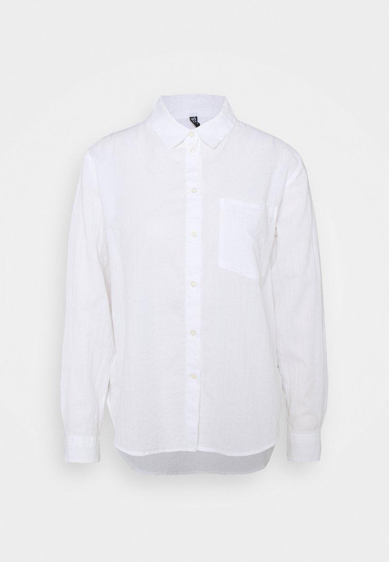 Pieces - PCPARLEE SHIRT - Button-down blouse - bright white
