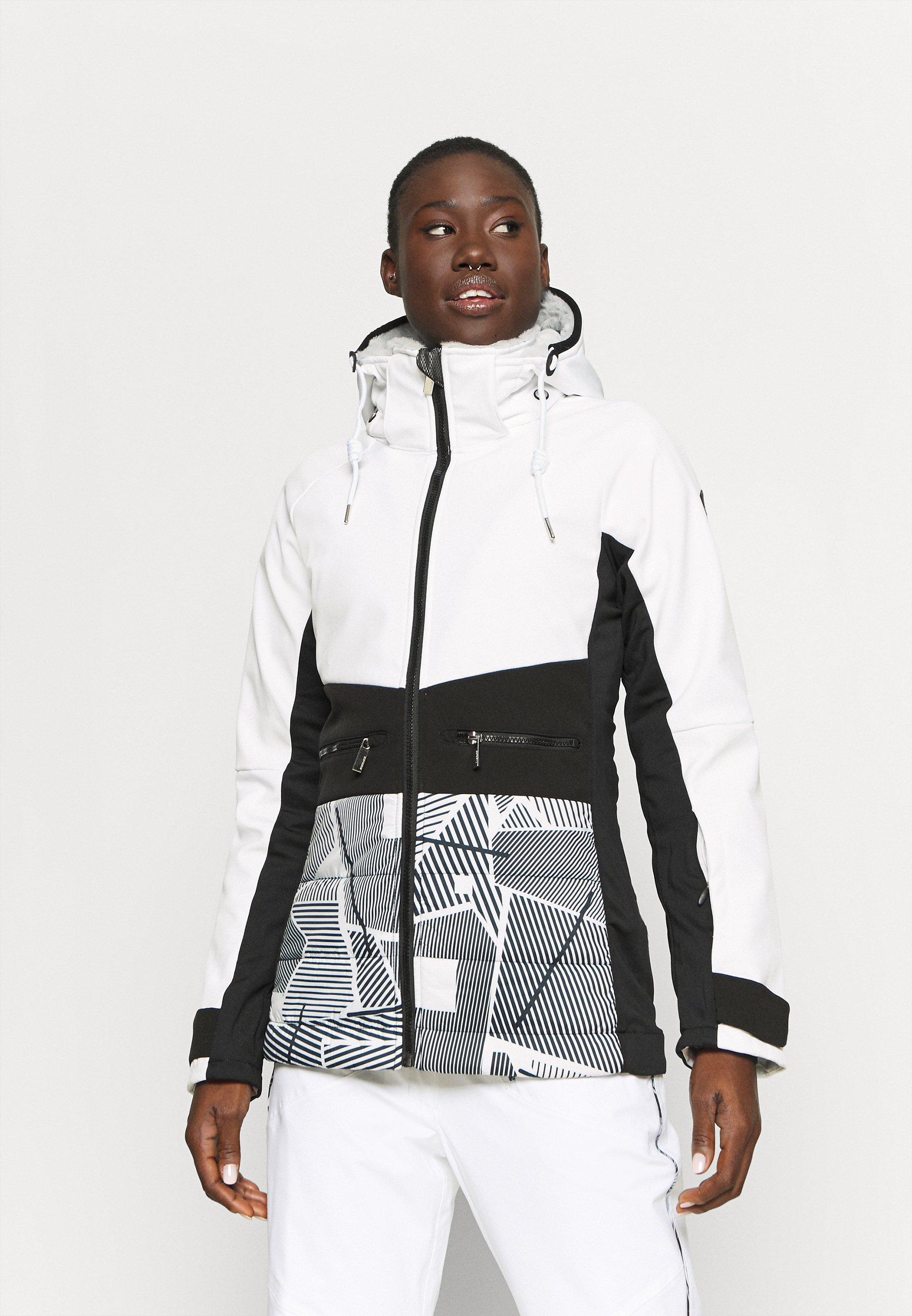 schwarz Softshell-Jacke Icepeak ELY in weiß Damen Skijacke