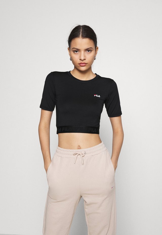 CAYLIN CROPPED TEE - Basic T-shirt - black