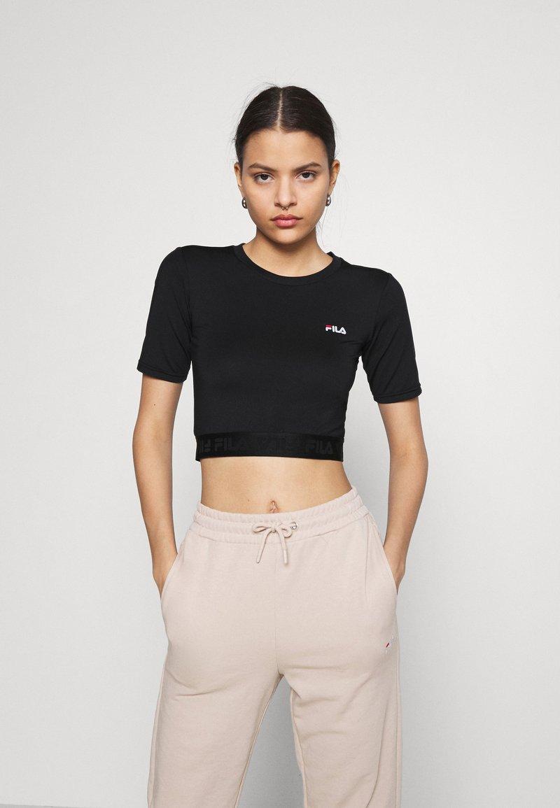 Fila - CAYLIN CROPPED TEE - Basic T-shirt - black