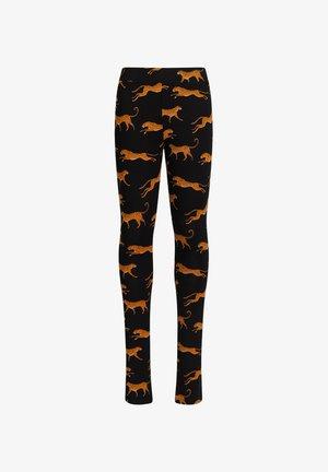 MET LUIPAARDDESSIN - Leggings - Trousers - black