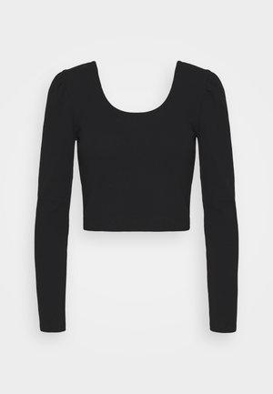 PAMELA PUFF SLEEVE LONG SLEEVE  - Long sleeved top - black
