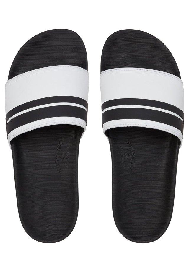 RIVI SLIDE - Pool slides - white/black/white