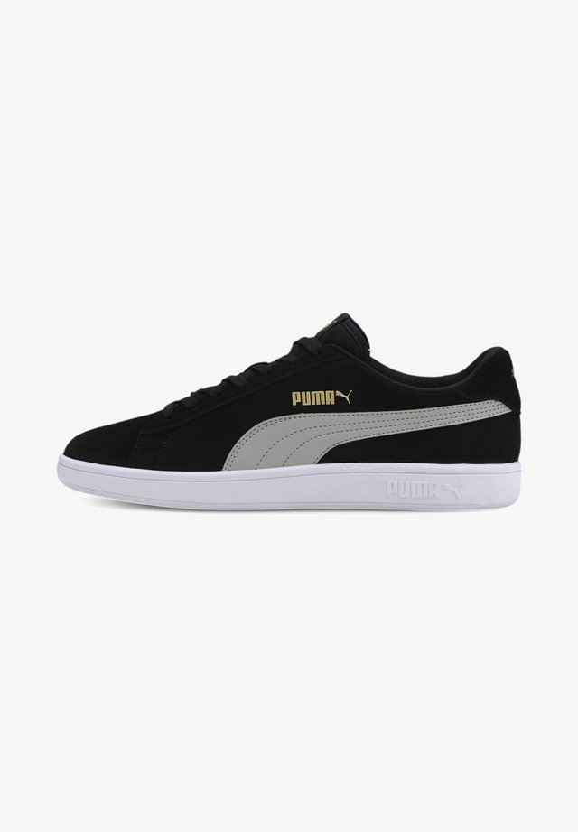 SMASH V2 UNISEX - Sneakers - puma black-limestone-gold