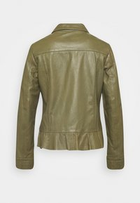 Ibana - NIGELA - Leather jacket - mossgreen - 1
