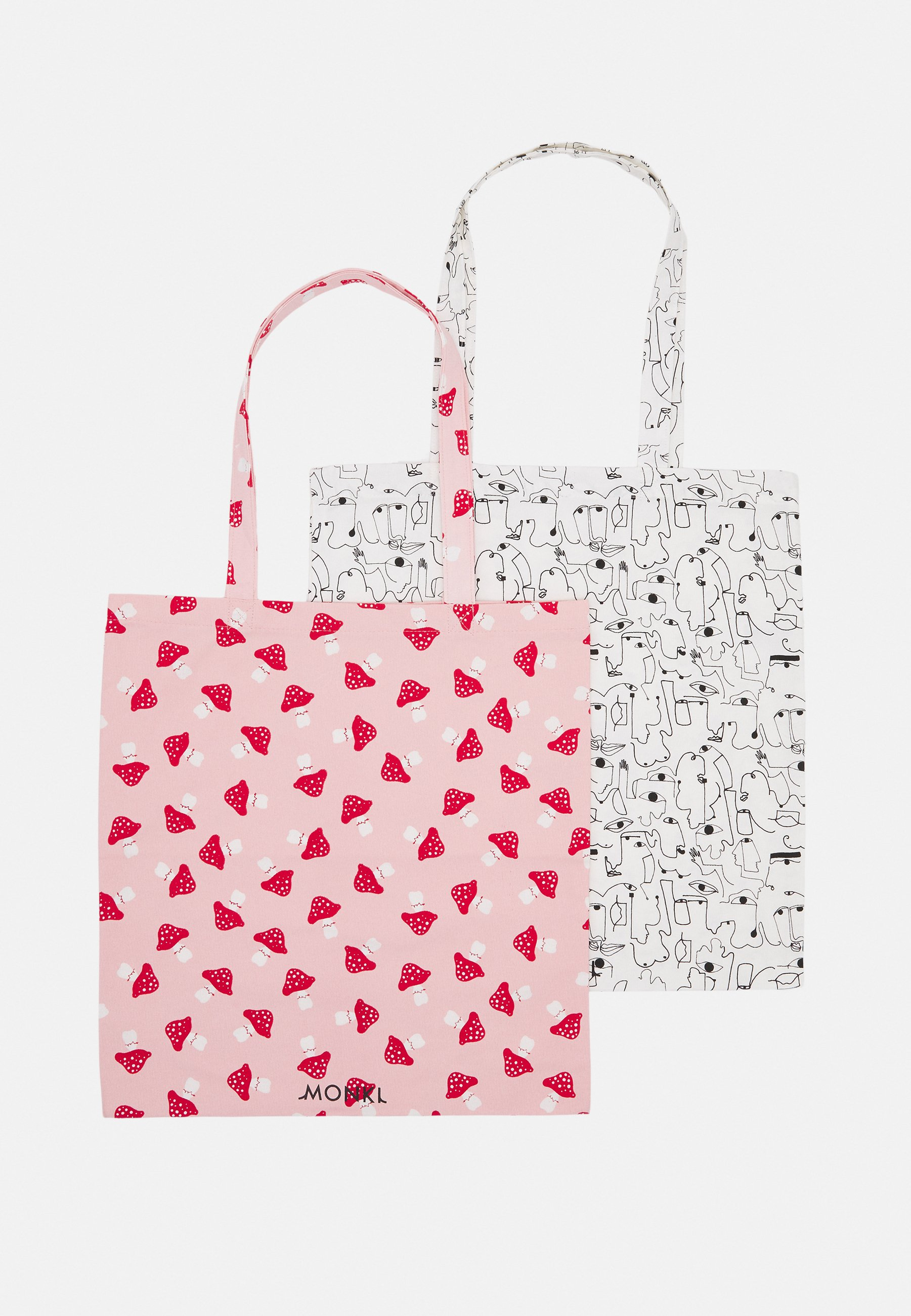 Women 2 PACK - Tote bag - pink dusty