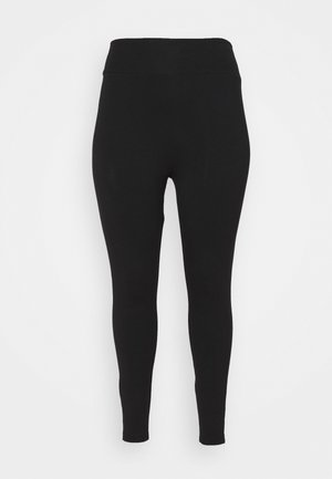 WHITE SIDE STRIPE - Leggings - Trousers - black