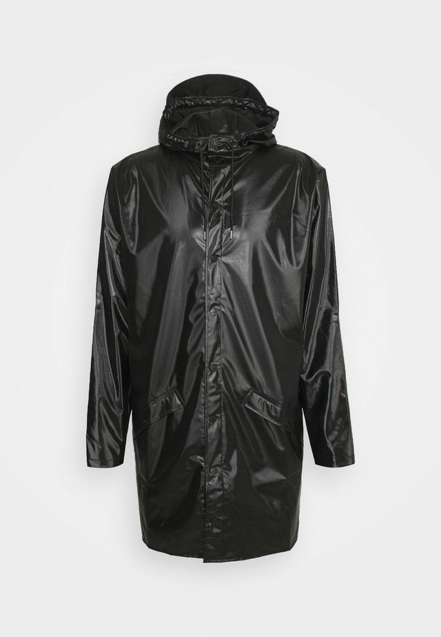 LONG JACKET UNISEX - Vodotěsná bunda - shiny black
