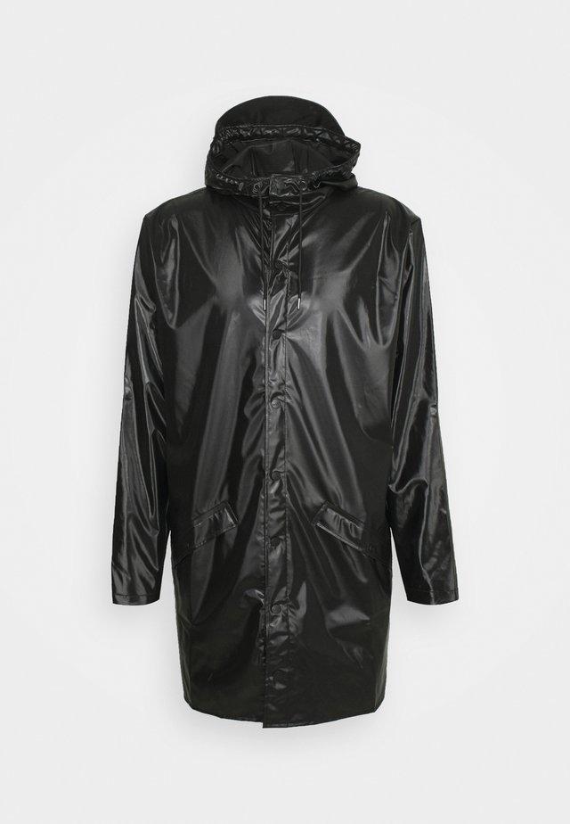 LONG JACKET UNISEX - Regenjas - shiny black