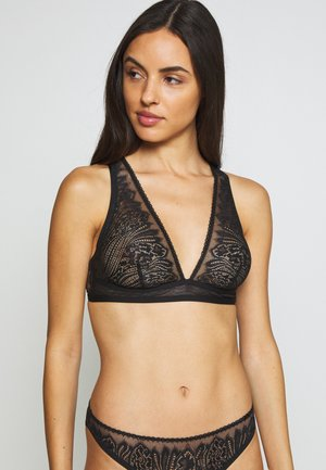 WAVE UNLINED BRALETTE - Triangle bra - black