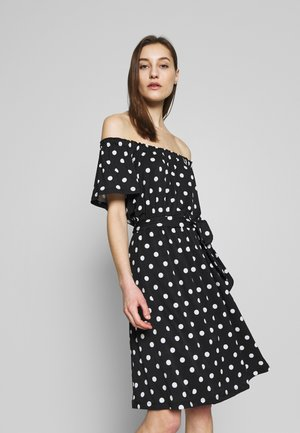 INTERLOCK - Jersey dress - black