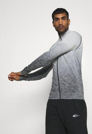 SLIM FIT SEAMLESS EASILY - Zip-up hoodie - schwarz