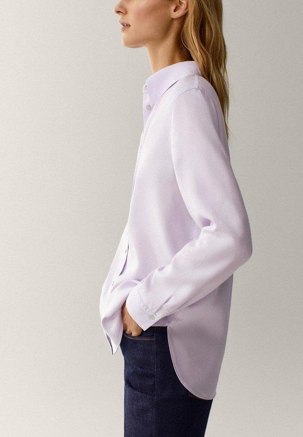 Massimo Dutti UNIFARBENES - Koszula - neon pink/liliowy BWRJ