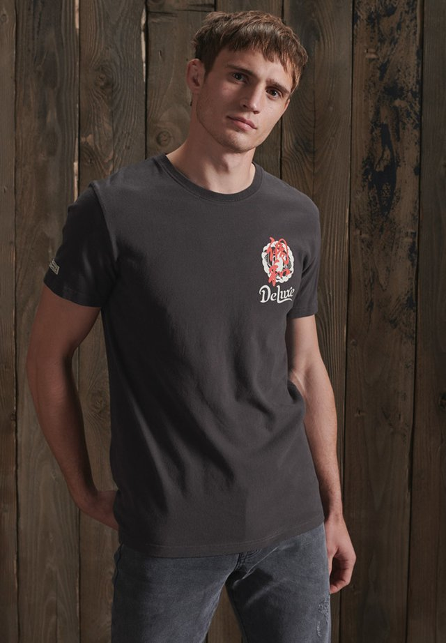 RISING SUN - T-shirt con stampa - carbon black