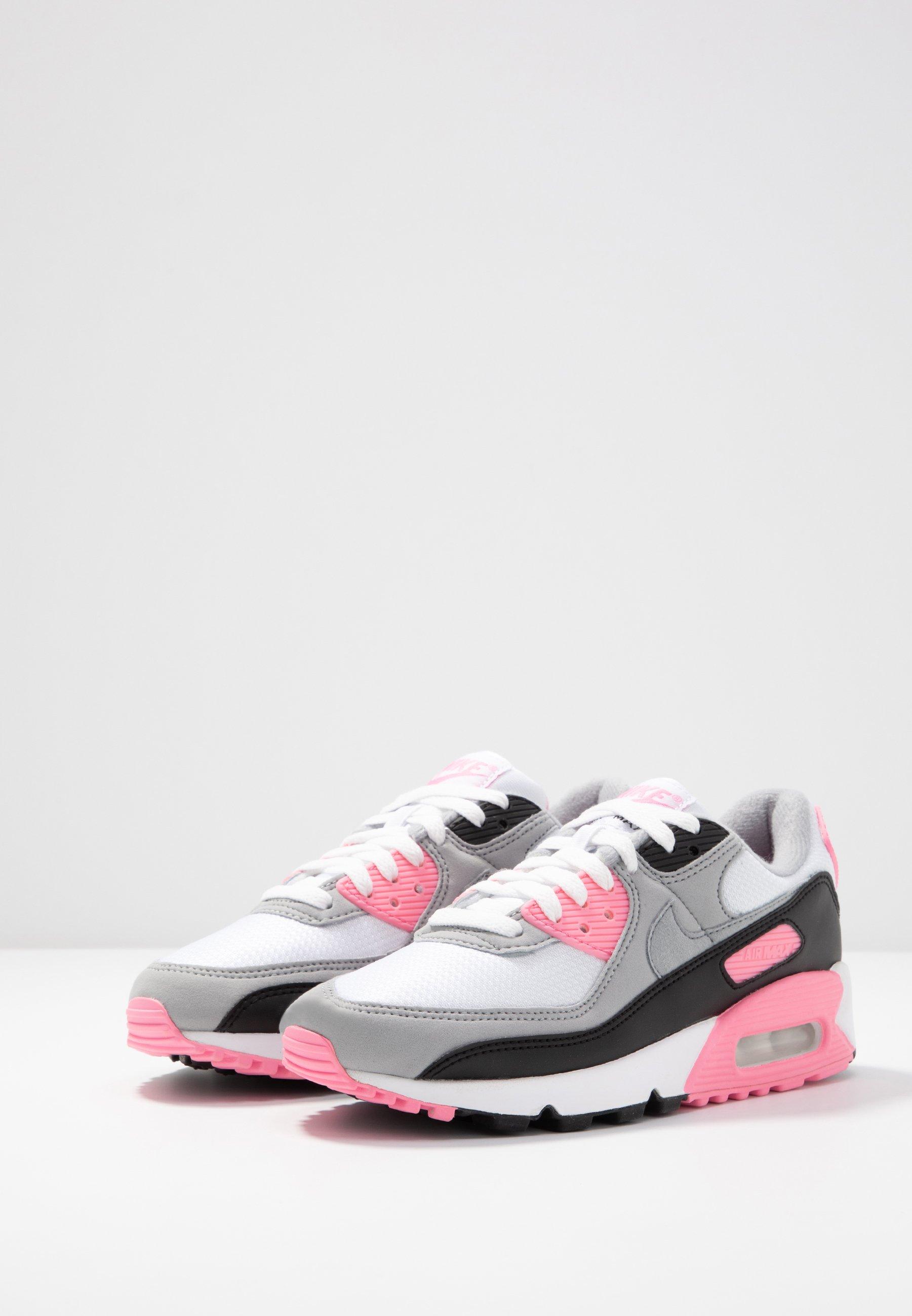 Nike Sportswear Air Max 90 - Sneakers White/particle Grey/rose/black/light Smoke Grey