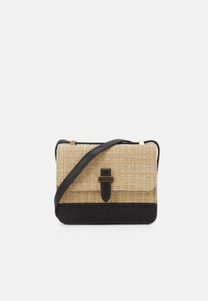EVA CROSS BODY BAG - Across body bag - black/straw