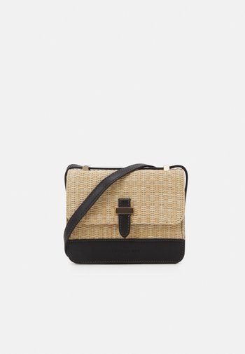 EVA CROSS BODY BAG - Across body bag - black/straw