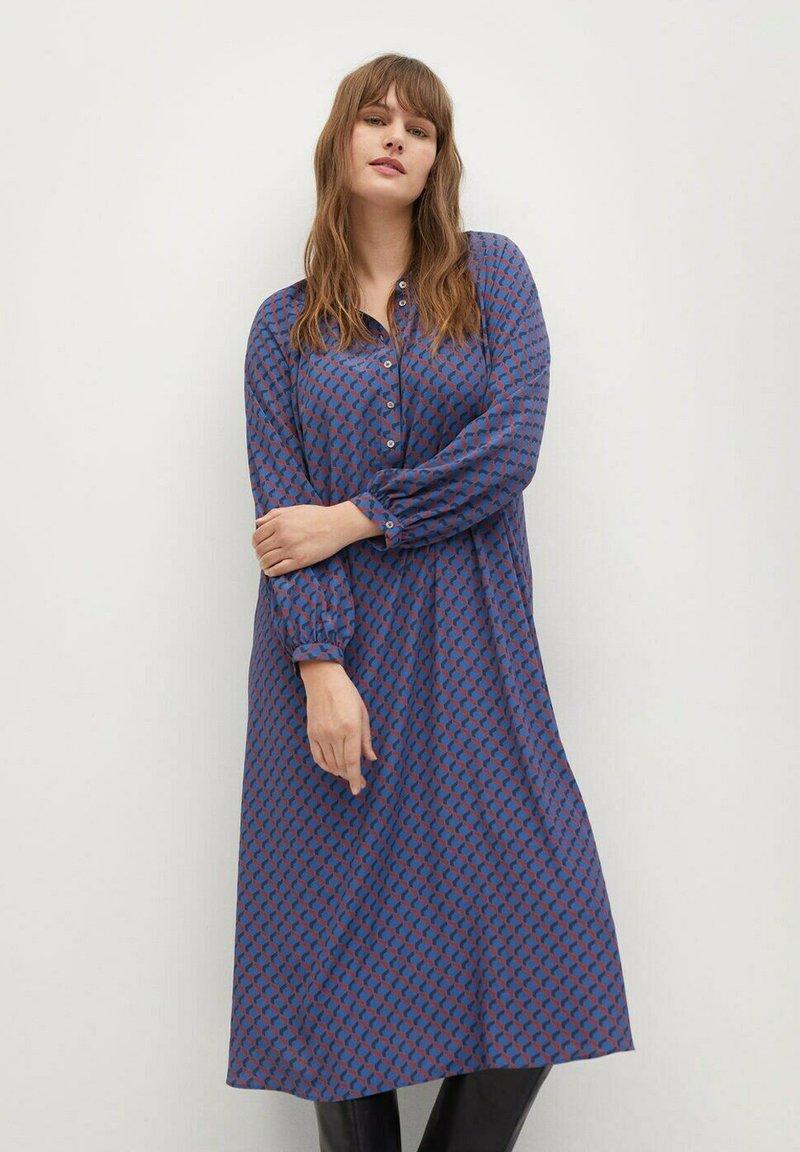 Violeta by Mango - METRIC - Shirt dress - blau
