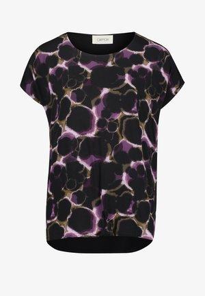 T-shirt imprimé - black/purple