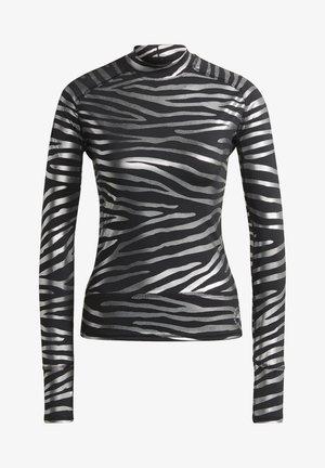 ADIDAS BY STELLA MCCARTNEY LONGSL MET TRAINING WORKOUT AEROREADY PRIMEGREEN LONG SLEEVE T-SHIRT FITTED - Long sleeved top - black/silver met