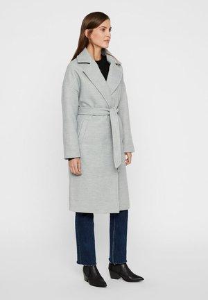 Płaszcz wełniany /Płaszcz klasyczny - light grey melange