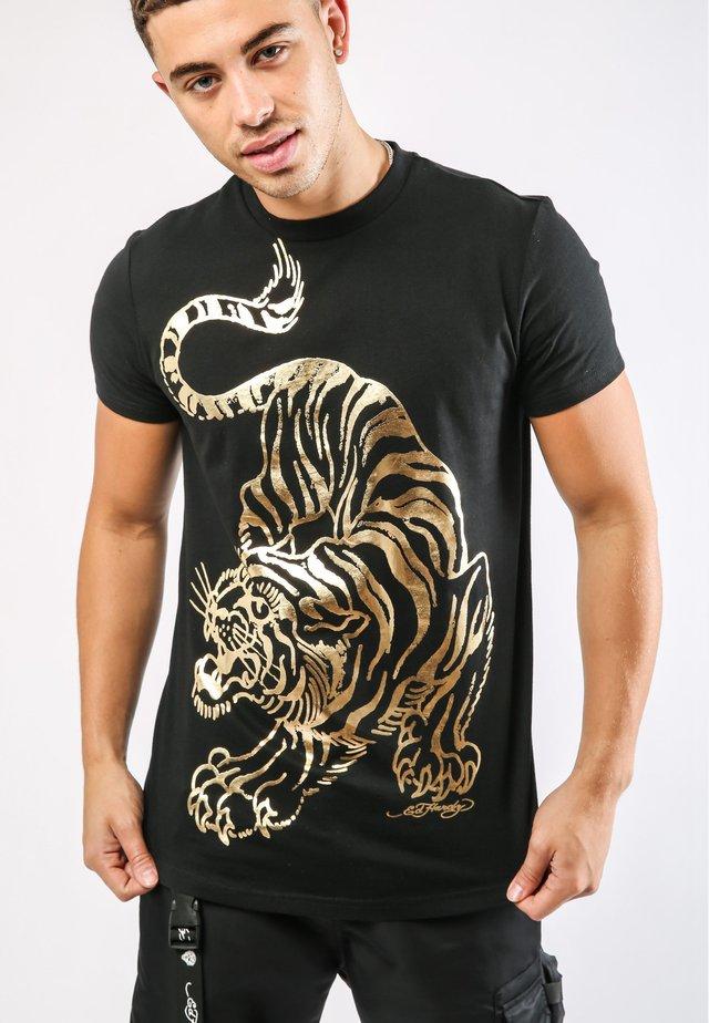 TIGER-GIANT T-SHIRT - T-shirt med print - black