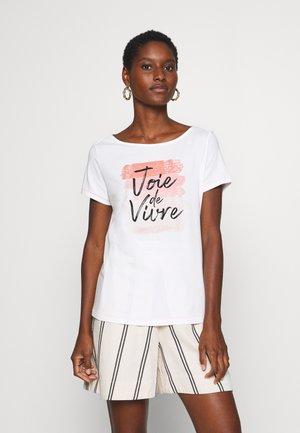 1/2 SLEEVE - Print T-shirt - off white