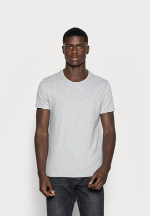 SLIM CREWNECK 2 PACK - Basic T-shirt - white/heather grey