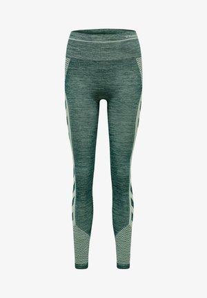 Leggings - darkest spruce/basil melange